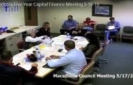 Macedonia Five Year Capital Finance Meeting 5-18-16 (Complete Video)
