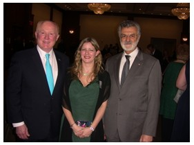 Ed Crawford, Chairman Crawford Companies; Orla McBreen, Irish Consul General; Cleveland Mayor Frank Jackson.