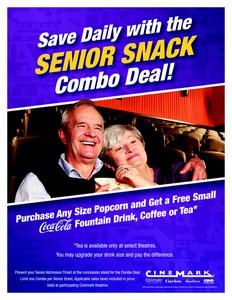 Senior Citizens Save Daily at Cinemark