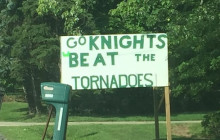 Football Sign - A Sign for the Knights