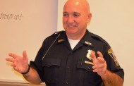 Vic's Corner: Macedonia Policeman/SRO Officer Glen Nicholl speaks at Nordonia High School