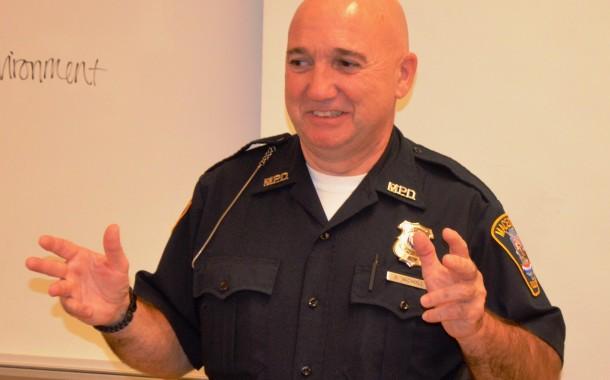 Vic's Corner: Macedonia Policeman/SRO Officer Glen Nicholl speaks at Nordonia High School