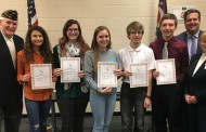 American Legion Americanism & Government Test Winners from Nordonia High School