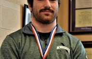Vic's Corner: Nordonia Senior Anthony Perrine proudly displays his medal for winning the Ohio State 195 lb Division 1 Wrestling Title.