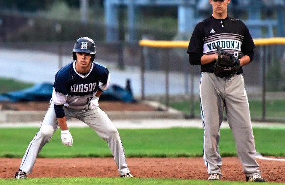 Knights Baseball team struggles in the early innings and lose a wet one 8-5 to Hudson (Photo Gallery)