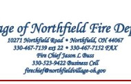 Village of Northfield Fire Department - Council Report 9-13-17
