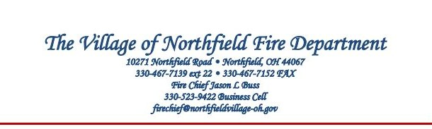 The Village of Northfield Fire Department May Report