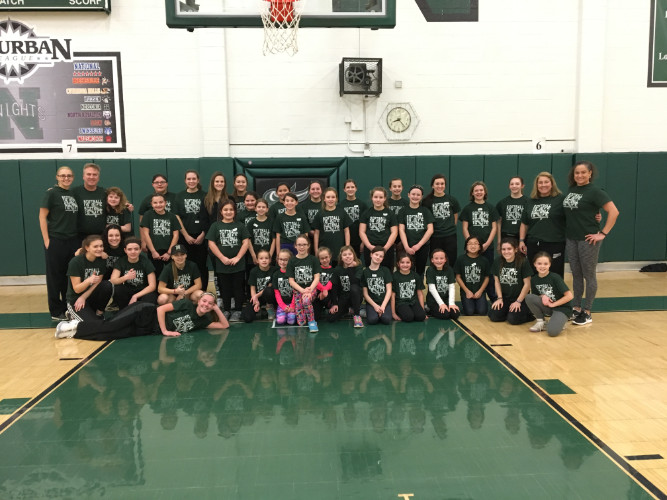2017 Winter Youth Clinic. Weekly training in the Nordonia High School gyms was offered by Coach Cormell and her staff and players to 3rd-8th graders of the district.