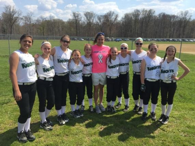 Over the summer of 2015, attending the NHAA summer softball team's game at Longwood Park. These girls are now in 7th grade. At that time, they were in 5th grade.