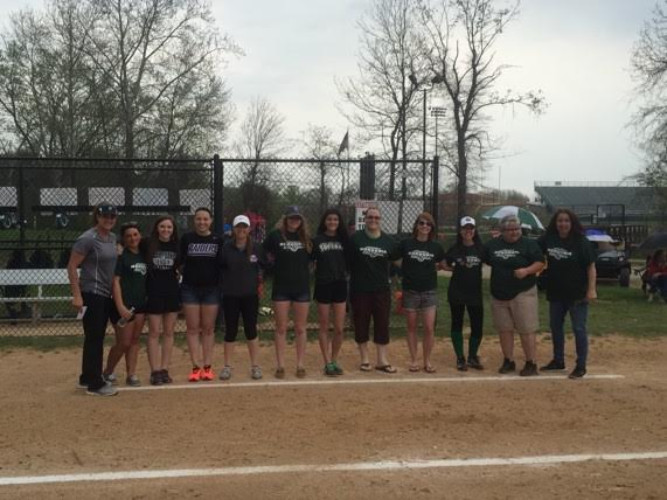 t shirts were provided to NHS softball alumni who were recognized at a game in 2015
