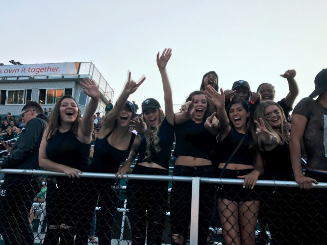 Band and fans at the first Nordonia Knight's football game at home