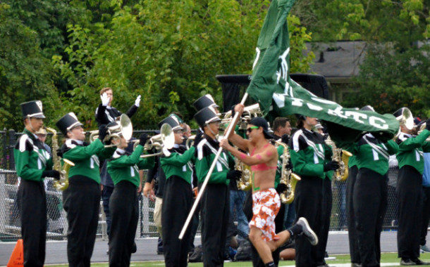 Cheer, Band and Fans - Nordonia vs Woodridge 9-1-17