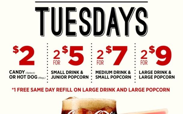 Tasty Tuesdays at Cinemark