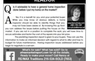 Ask Nancy about Real Estate:  Is it advisable to have a general home inspection done before I put my home on the market?