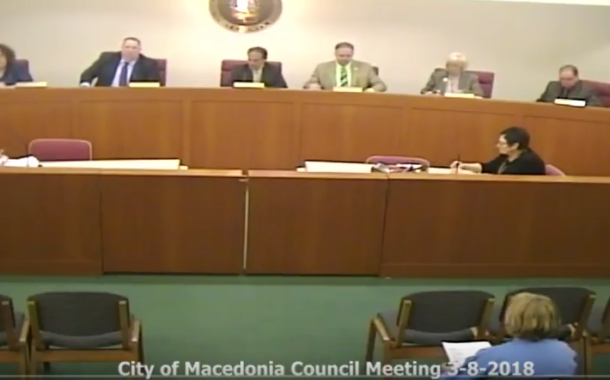 Vic's Corner: Macedonia Council Meeting Notes 3-8-18