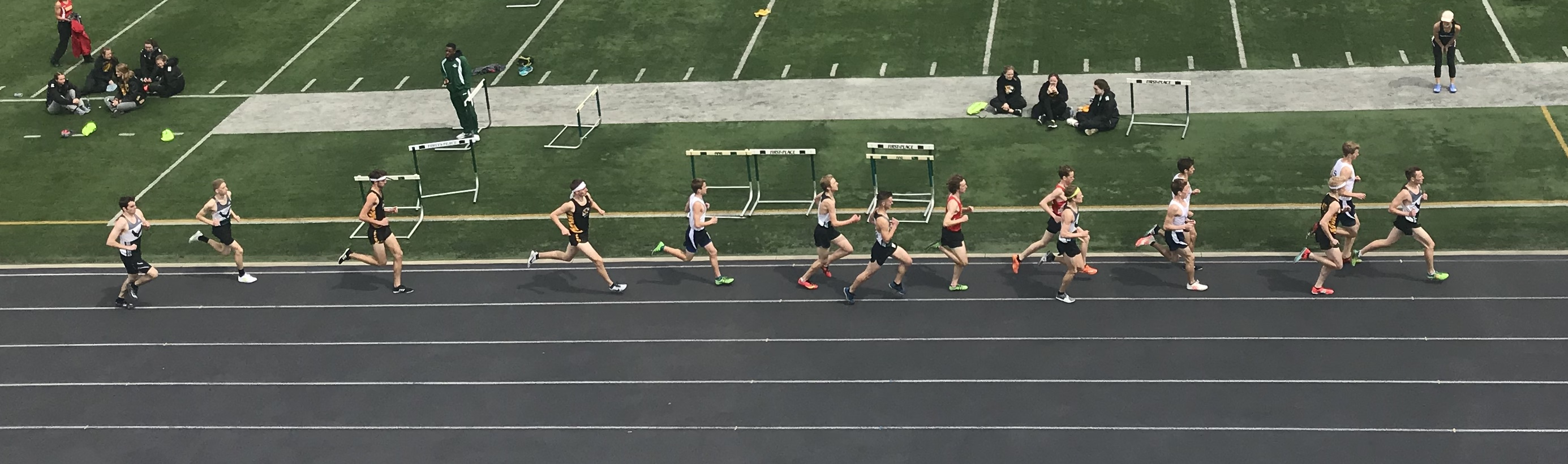 Nordonia Track Meet Hudson, Cuyahoga Falls, Brecksville - From a Birds Eye View 4-21-18 (photos and video)