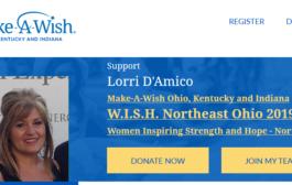 Northfield resident, LORRI D'AMICO, has been chosen by Make-A-Wish® Ohio, Kentucky & Indiana