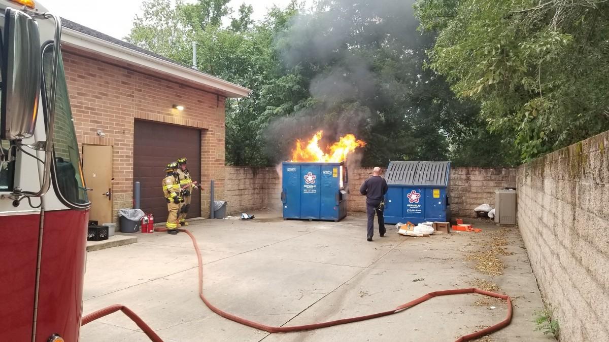 Vic's Corner: Garbage bin fire at Circle K in Northfield Village
