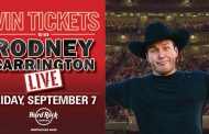 COMEDIAN RODNEY CARRINGTON TICKET GIVEAWAY – NORDONIA HILLS – AUGUST ROCKSINO CONTEST