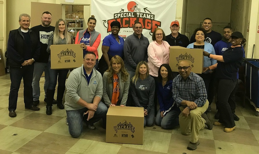 Sixteen Allstate agency owners, financial specialists and licensed sales professionals earn $11,000 grant for the Cleveland Browns Foundation