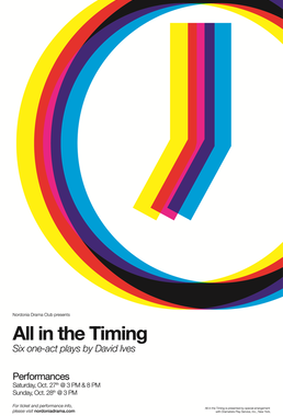 The Nordonia High School Drama Club will present All in the Timing by David Ives as this year's fall production.