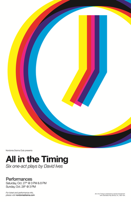 "This Fall, Nordonia Drama Club presents: ""All in the Timing"" by playwright David Ives"