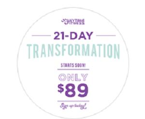 21 DAY TRANSFORMATION STARTS OCTOBER 22