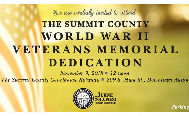 County of Summit to Dedicate World War II Veterans Memorial