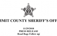 From the Summit County Sheriff's Office: Road Rage Follow-up