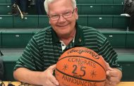 David Foust, 25 Years the Voice of the Knights, Honored by Girls Basketball Team